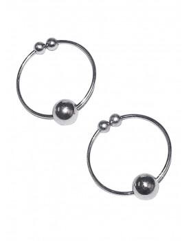 Kroužky na bradavky - falešný piercing (stříbrné)