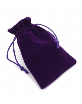 Sametový pytlík - fialový (9x12 cm)