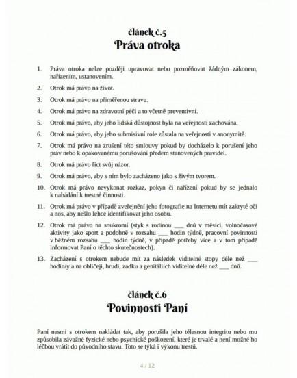 BDSM smlouva o otroctví - Paní a otrok