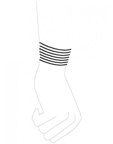 Náramky - pouta Désir Métallique Black, černé