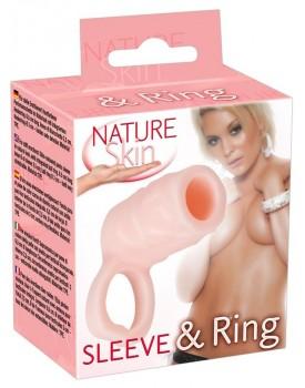 Návlek na penis s poutkem na varlata (Nature Skin)