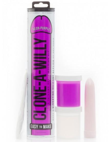 Clone-A-Willy Neon Purple (vibrátor) - sada pro odlitek penisu