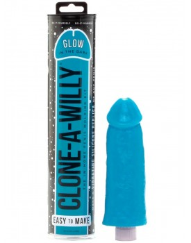 Clone-A-Willy Glow-in-the-Dark Blue (vibrátor) - sada pro odlitek penisu