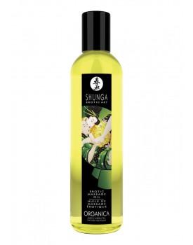 Erotický masážní olej Shunga Green Tea Organica (BIO), 250 ml