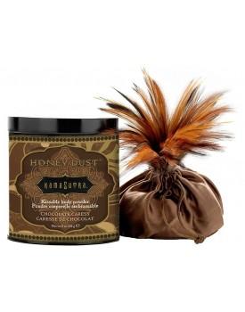 Tělový pudr KamaSutra Honey Dust Chocolate Caress - slíbatelný, 226 g
