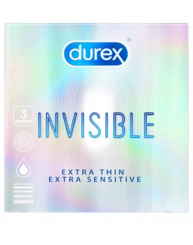 Kondomy Durex Invisible Extra Thin Extra Sensitive (3 ks)