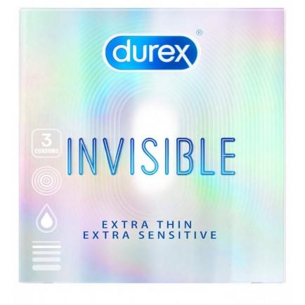 Kondomy Durex Invisible Extra Thin Extra Sensitive (3 ks)
