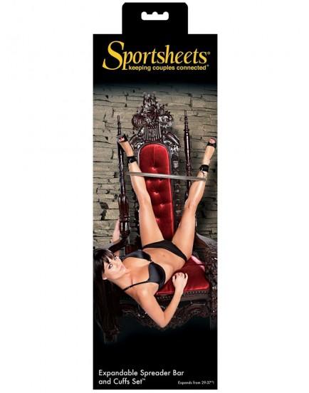 Nastavitelná roztahovací tyč s pouty Sportsheets (teleskopická)