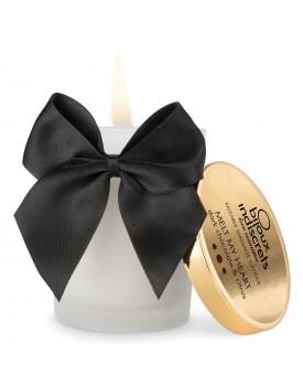 Masážní svíčka Melt My Heart od Bijoux Indiscrets - s chutí hořké čokolády a citrusů