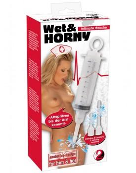 Intimní sprcha Wet&HORNY ve tvaru stříkačky