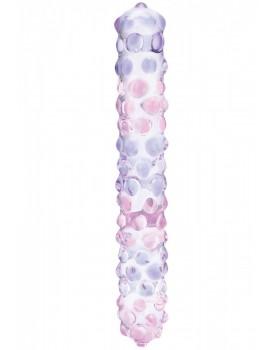 Skleněné dildo Purple Rose Nubby - Gläs
