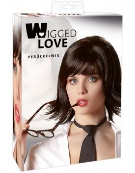 Krátká černá paruka Joanne - Wigged Love