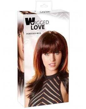 Dlouhá černá paruka s melírem Lucy - Wigged Love