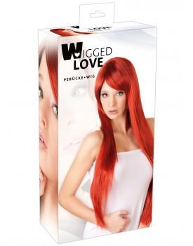 Dlouhá červená paruka Miranda - Wigged Love