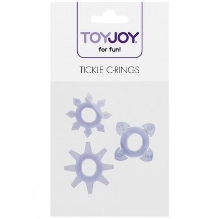 Erekční kroužky Tickle - se stimulačními výstupky (sada 3 ks)