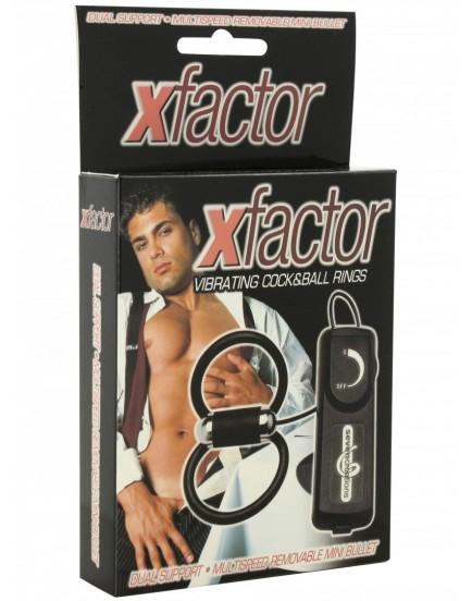 Vibrační erekční kroužek XFACTOR - na penis a varlata