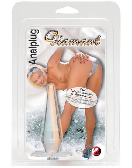 Anální kolík Diamant, transparentní