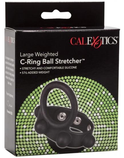Natahovač varlat se závažím a erekčním kroužkem C-Ring Ball Stretcher L