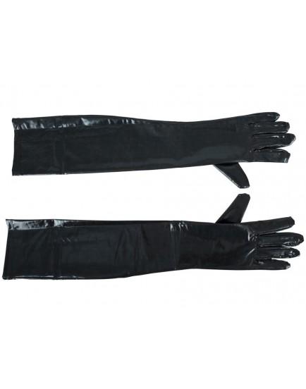 Dlouhé lesklé pánské rukavice