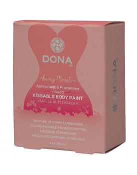 Slíbatelný bodypainting s afrodiziaky a feromony DONA - vanilkový krém