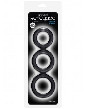 Trojitý kroužek na penis Renegade Triad