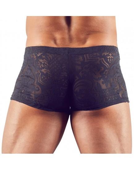 Průsvitné pánské boxerky s natištěným motivem, černé