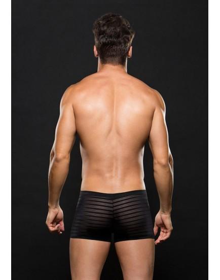 Černé boxerky s průsvitnými proužky