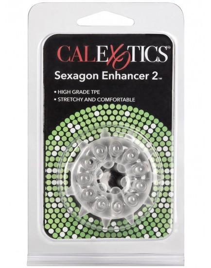 Erekční kroužek se stimulačními výstupky SEXAGON ENHANCER 2