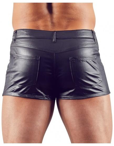 Boxerky ve wetlook stylu se zipem a kapsičkami