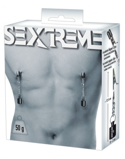 Skřipce na bradavky se závažím Sextreme (50 g)