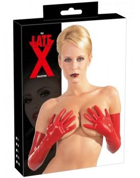 Dlouhé latexové rukavice (červené)