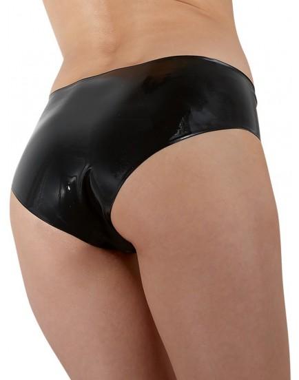 Latexové dámské kalhotky s vnitřním dildem