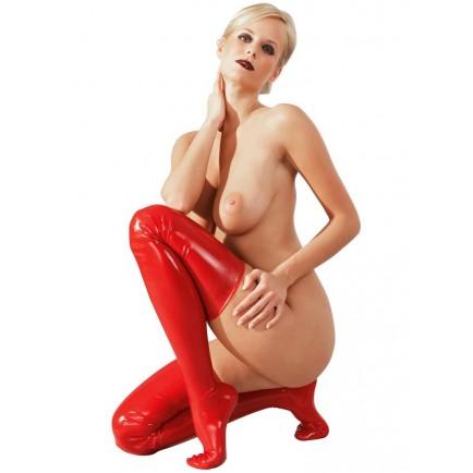 Červené latexové punčochy - LateX