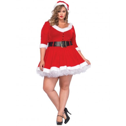 Kostým Mrs. Claus PLUS SIZE