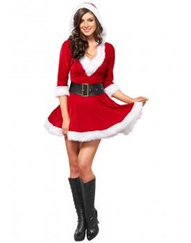 Kostým Mrs. Claus (minišaty s kapucí)