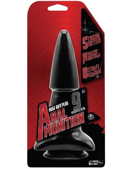 """Anální dildo Anal Munition 9"""" (s přísavkou a rozšířenou základnou)"""