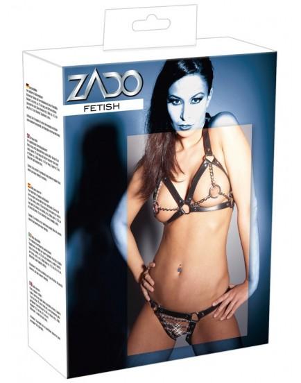 Kožené bikiny s kovovými řetízky - ZADO