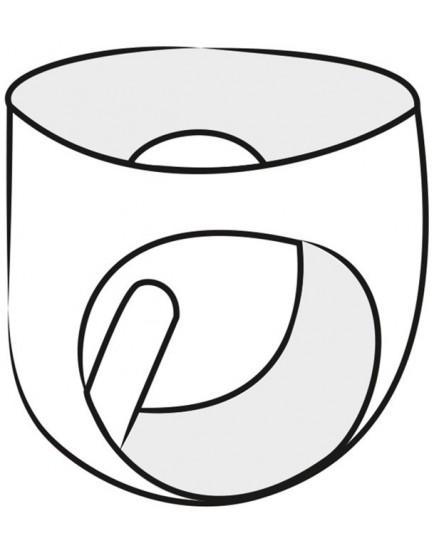 Latexové pánské slipy s vnitřním nafukovacím análním kolíkem - LateX