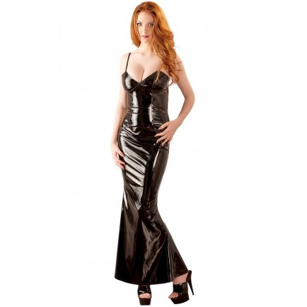 Dlouhé lakované šaty - Black Level