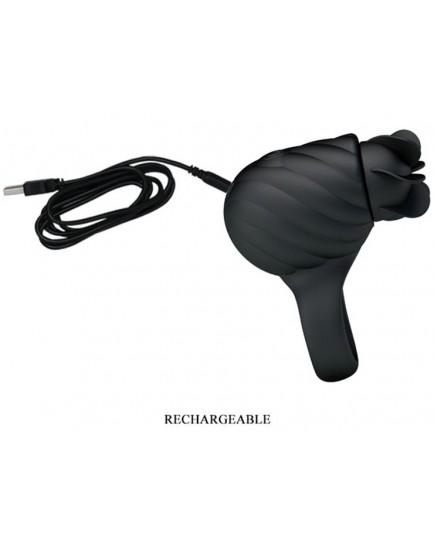 Erekční kroužek s rotačním stimulátorem Frances (nabíjecí)