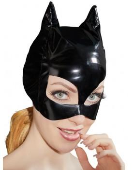 Lakovaná maska s kočičíma ušima - Black Level