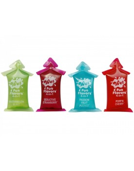 Ochucený lubrikační a masážní gel 4 v 1 Wet Fun Flavors - 1 ks
