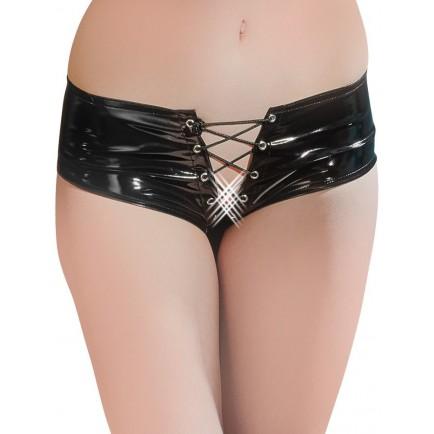 Lakované kalhotky se šněrováním - Black Level