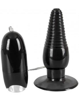 Rotační a vibrační anální kolík s přísavkou