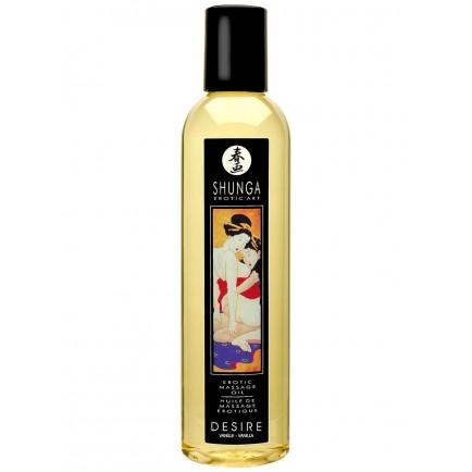 Erotický masážní olej Desire Vanilla, 250 ml - Shunga
