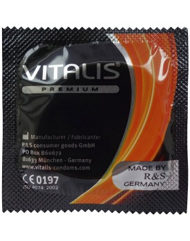 Kondom Vitalis Orange, pomeranč (1 ks)