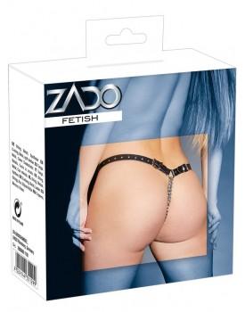 Kožená tanga s kovovými řetízky - ZADO