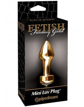 Kovový anální kolík se šperkem Mini Luv Plug - Fetish Fantasy Gold