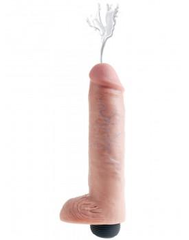 "Realistické stříkající dildo s varlaty King Cock 10"" - Pipedream"