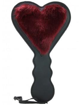 Oboustranná široká plácačka ve tvaru srdce Enchanted S&M (Sportsheets)